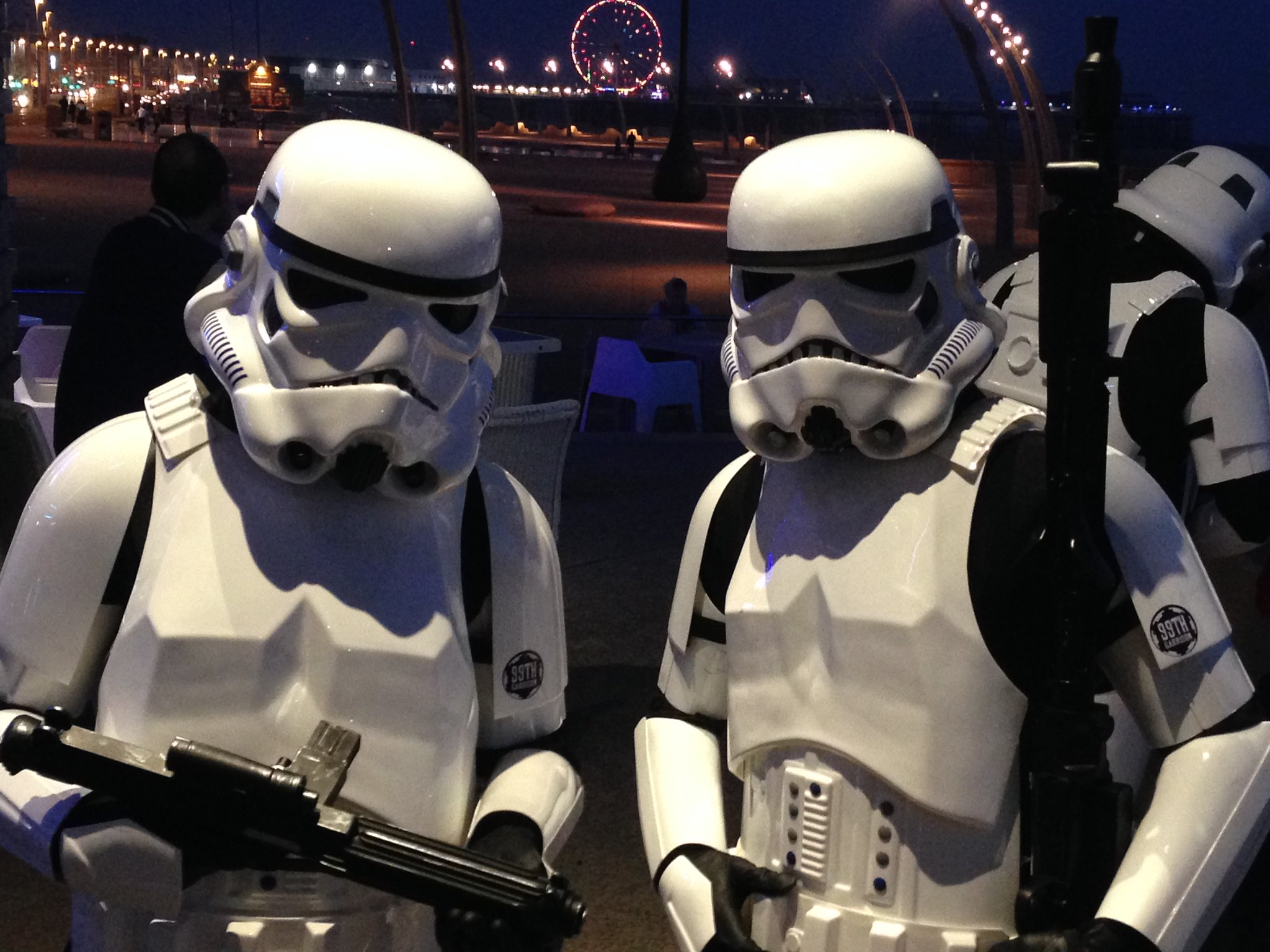 Blackpool Comic-Con Launch Party - Star Wars Stormtroopers on Blackpool Seafront