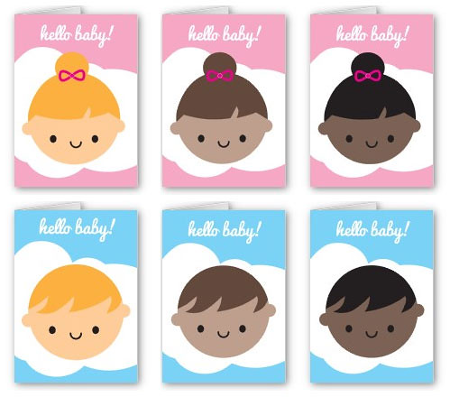 New Baby Cards - variations