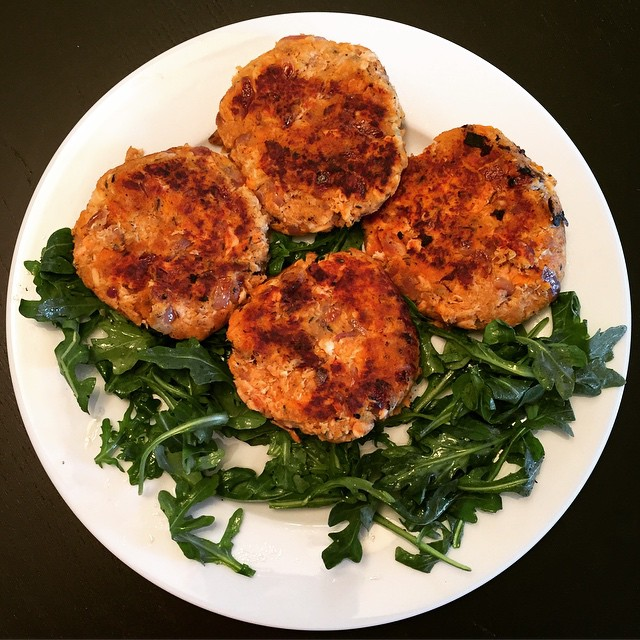 Salmon Fish Cakes And Egg