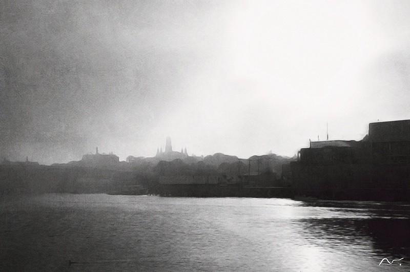 Fog rolling in - Gloucester MA