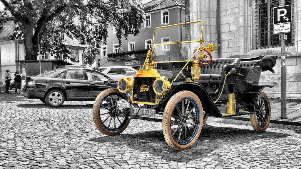 over 100 years of ford automobiles | eng.: a beautiful old f… | flickr