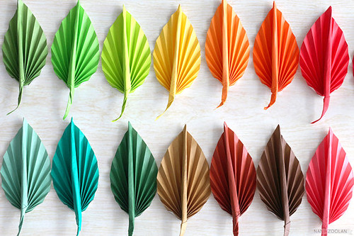 Origami Leaf Lapel Pins from NANA ZOOLAN