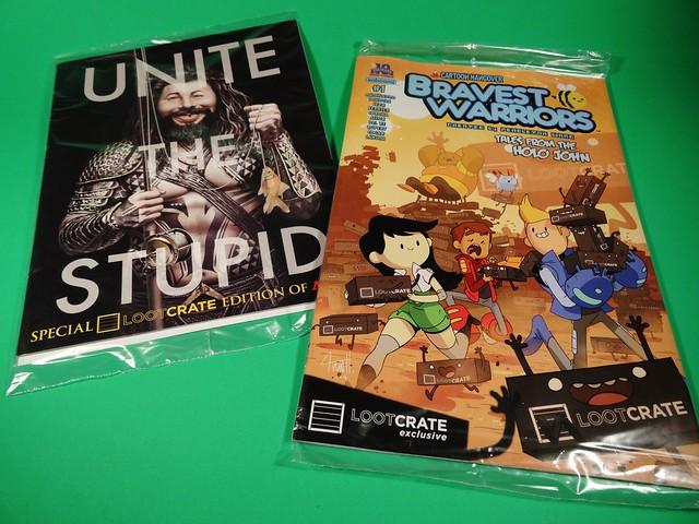 May 2015 Loot Crate Exclusive comics