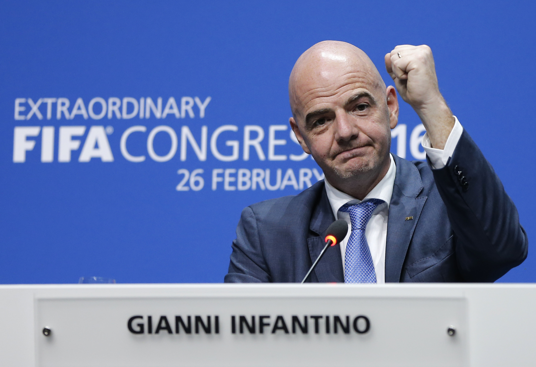 Gianni Infantino。(達志影像資料照)