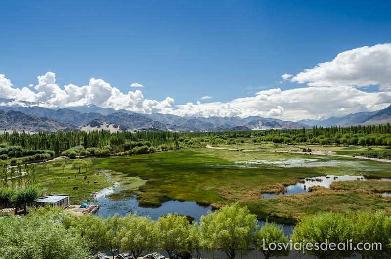 valle del indo vistas desde el palacio Shey