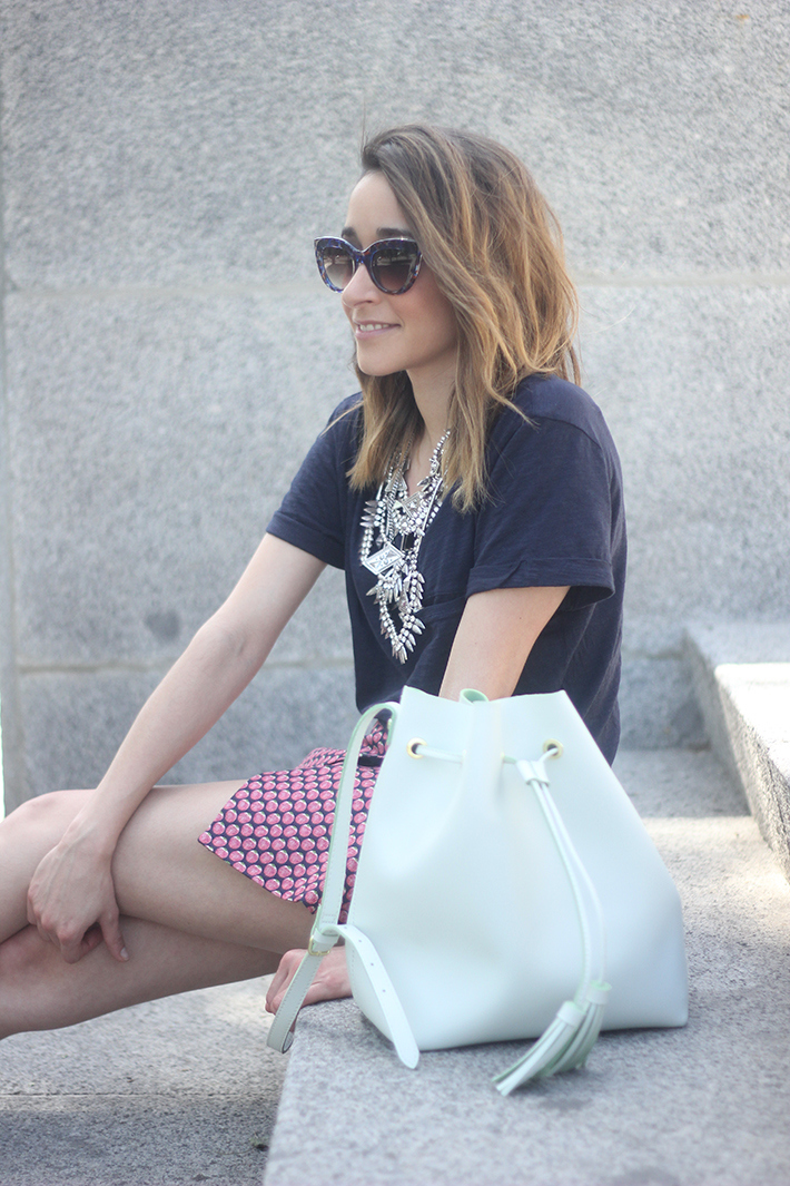 Shorts, Pink, Blue, Uterqüe, Heels, 05