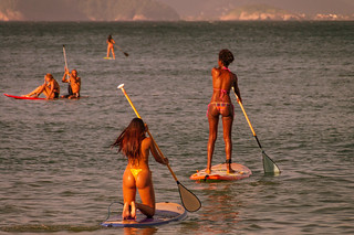 Standup paddleboarding at Copacabana | by Fathzer
