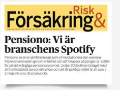 Försäkringsbranschens Spotify