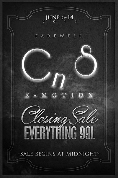 CNS E*Motions Closing Sale...
