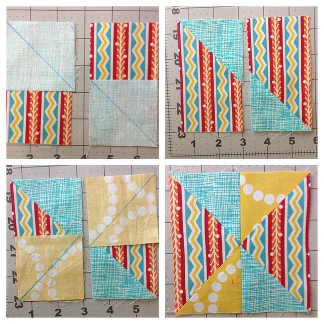 I'm avoiding templates when possible so I make this block using stitch and flip method with (2) 2.5x4.5 rectangles and 2.5 squares #mysmallworldqal