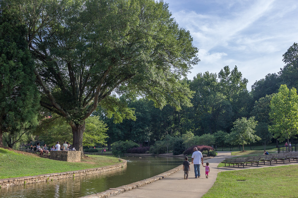 Freedom park, greenways,, charlotte, nc