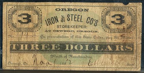 $3 OR OREGON IRON & STEEL