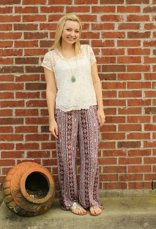 palazzo pants outfit 2