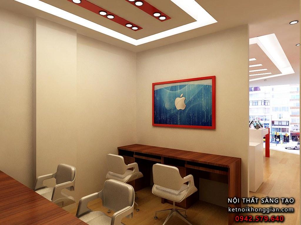 thiết kế showroom điện thoaij