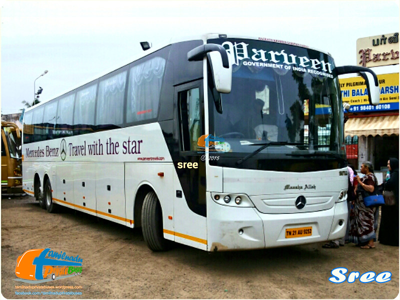 Parveen travels mercedes benz tamilnadu private buses for Mercedes benz chennai