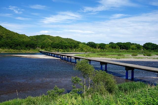 佐田沈下橋の全容