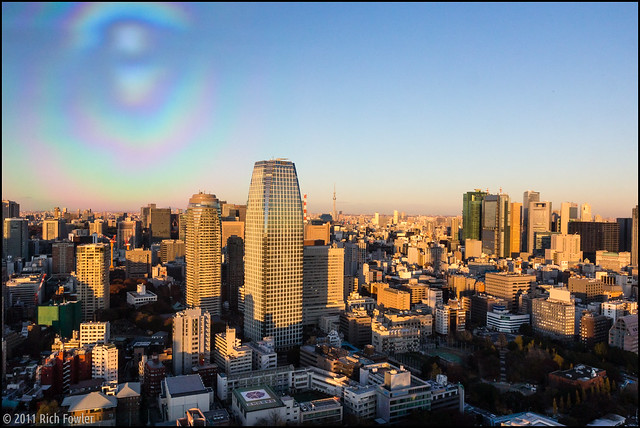 Tokyo Tower Windows Cause Photography Problems