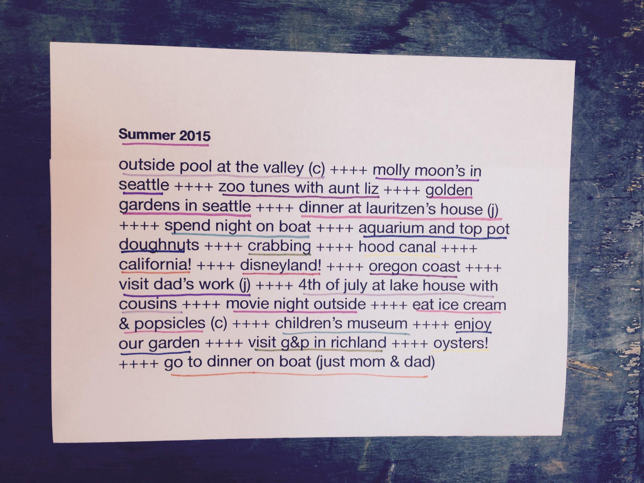 summer list :)