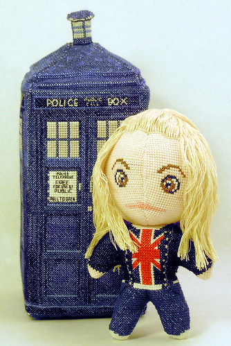 Doctor Who 3D cross stitch patterns by Robins Design - Rose Tyler