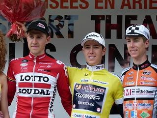 Laurens DE PLUS (Lotto Soudal), Simone PETILLI (Unieuro Wilier), Jérémy MAISON (CC Etupes)