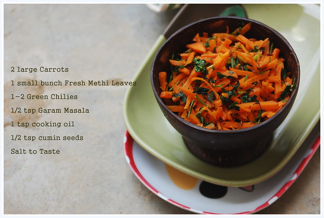 Methi Gajar Ingredients