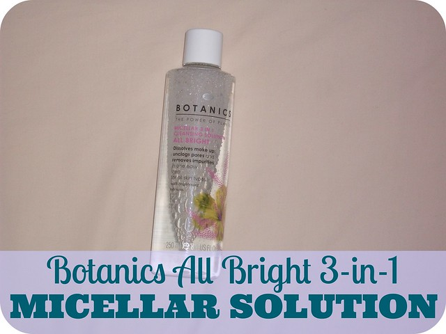 Botanics All Bright 3-in-1 Micellar Cleansing Solution Review