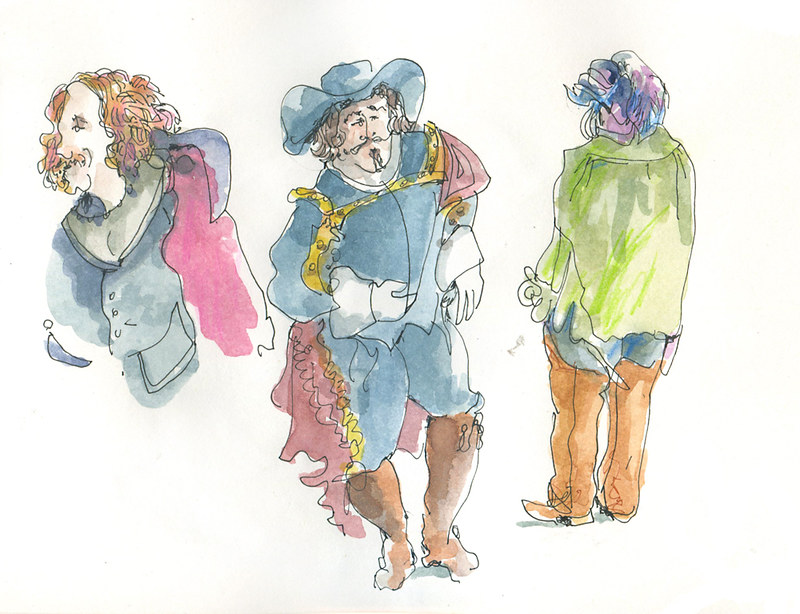 Cyrano Half-blind Theater Sketching