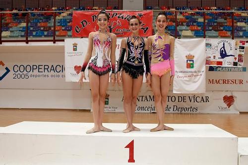 Podium-con-Lucía-Navarro-Oro-y-Plata-y-Bronce-Infantil-en-Vícar