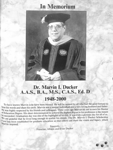 Marvin I. Ducker, Ed.D in 2000 Yearbook