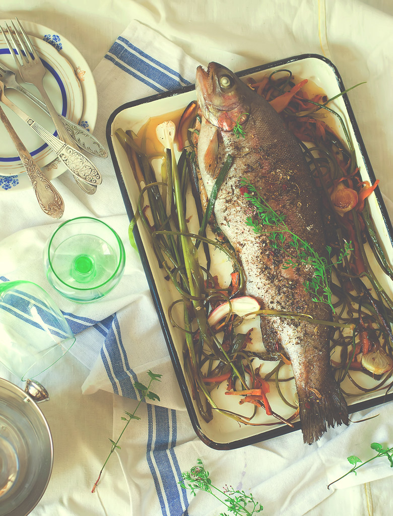 the baked trout