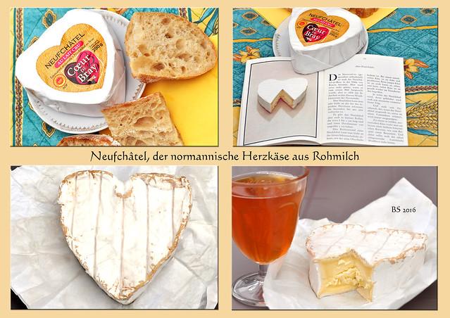 Neufchâtel - Normandie - Herz - Herzkäse_Käse zum Dessert - Foto: Brigitte Stolle - Bretagne 2016