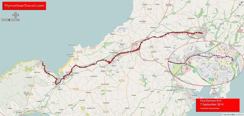 14 St Ives - Camborne - Redruth - Truro