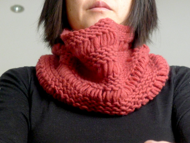 Dropped Stitch Cowl