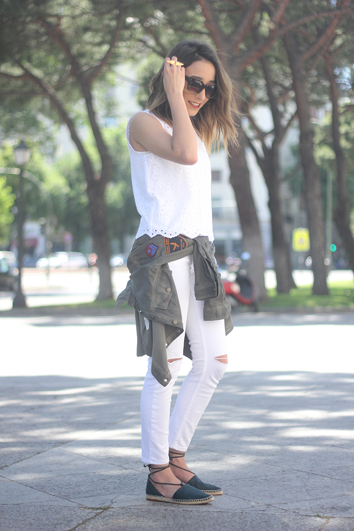 espadrilles with white outfit07