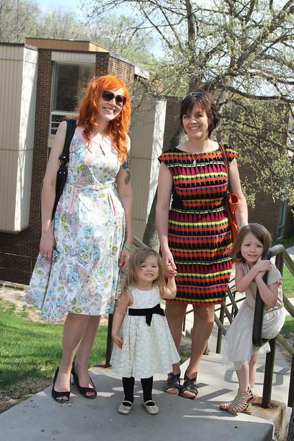 Mom, girls, me