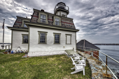 Rose Island Lighthouse by Frank Grace, via I {heart} Rhody