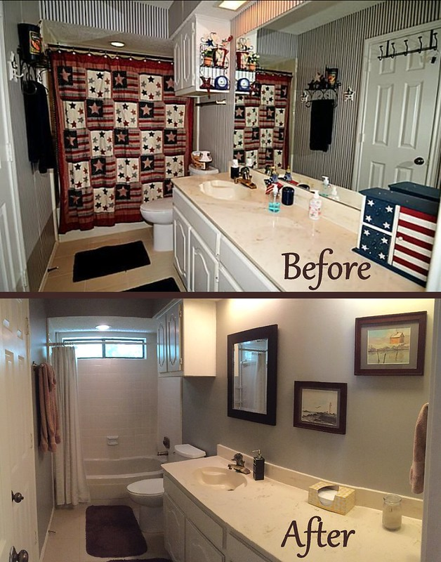 Hall Bath Update - Before & After