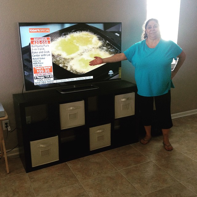 Mama's first flat screen! (And of course she wanted to see what HSN looked like in HD.)
