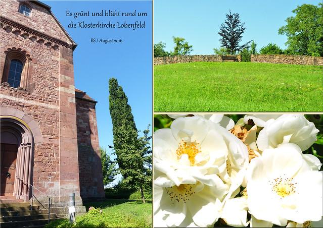 """Oldtimer-Ausfahrt Ford Mustang 1966 - Klosterkirche Lobenfeld in Lobbach-Lobenfeld im """"Kleinen Odenwald"""" - Klosterkirche, Klostergarten - Fotos und Collagen: Brigitte Stolle 2016"""