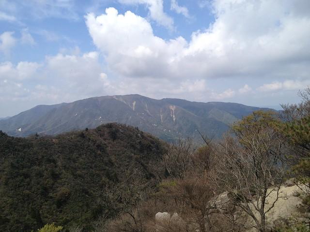 三池岳 尾根コース ザレ尾根より竜ヶ岳