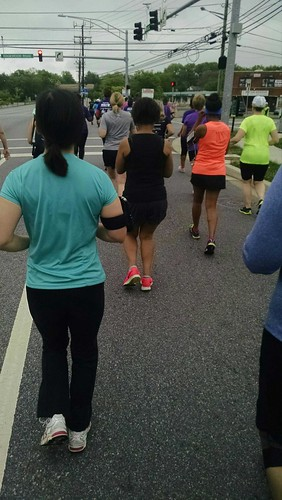 At the start of the Mother's Day 5K. Photo by R.