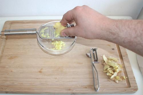 16 - Ingwer schälen & reiben / Peel & grate ginger