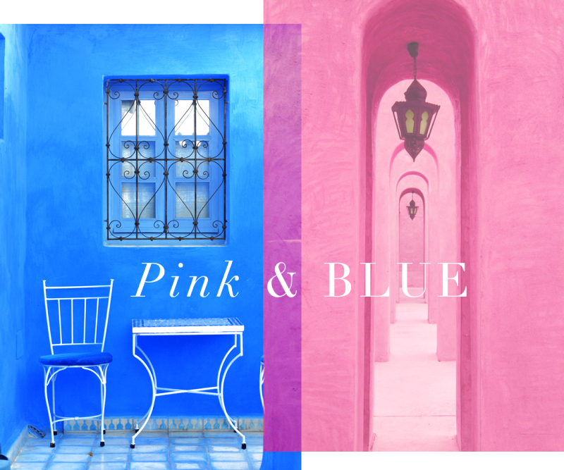 Colour Inspiration: Pink & Blue