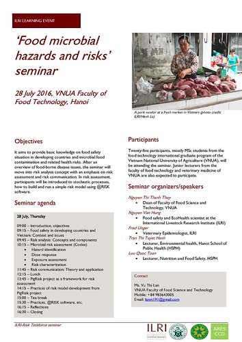 Food safety seminar flyer