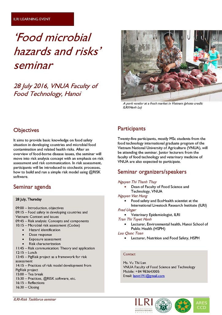 Food Safety Seminar Flyer | Ilri Learning Event: 'Food Micro… | Flickr