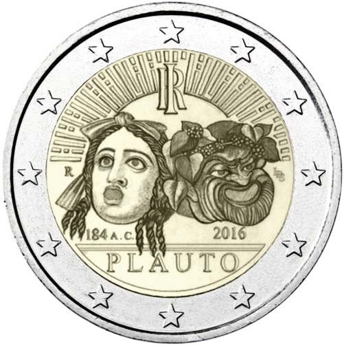 2 Euro Taliansko 2016, Plautus