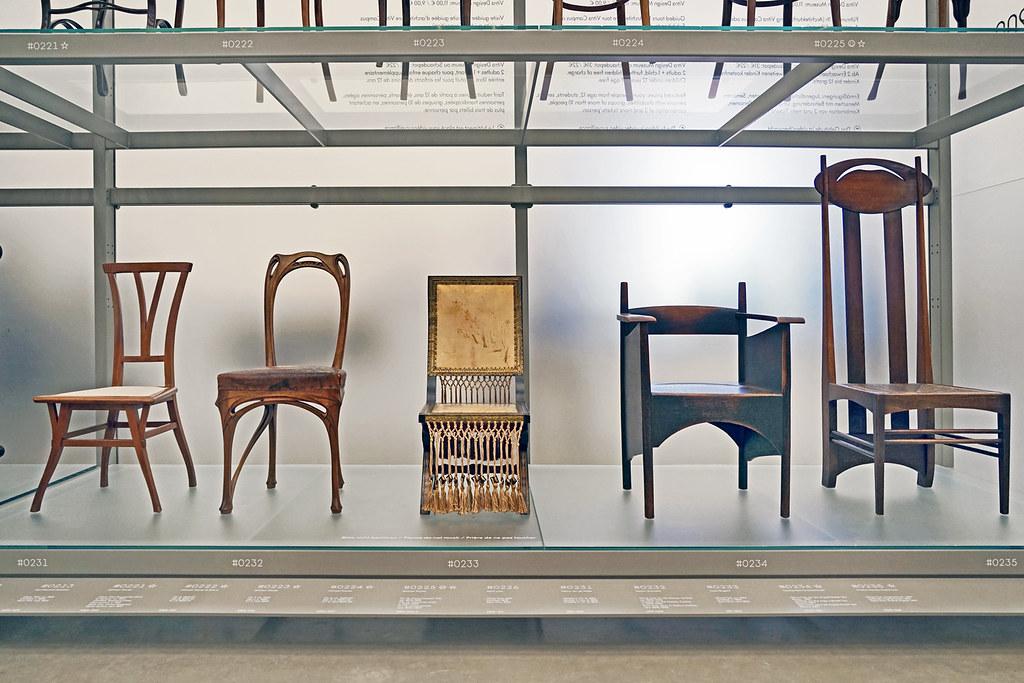 chaises art nouveau  vitra design museum  weil am rhein  a