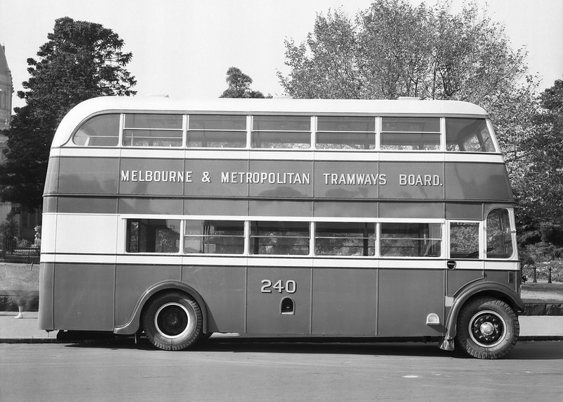 Melbourne Metropolitan Tramways Board bus 240 (Source: State Library / Lyle Fowler)