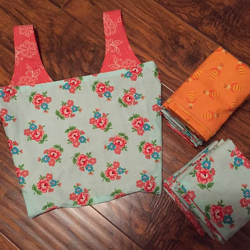 152:365 14 #michellepatterns grocery bags done! 12 pretty florals and 2 bugs.