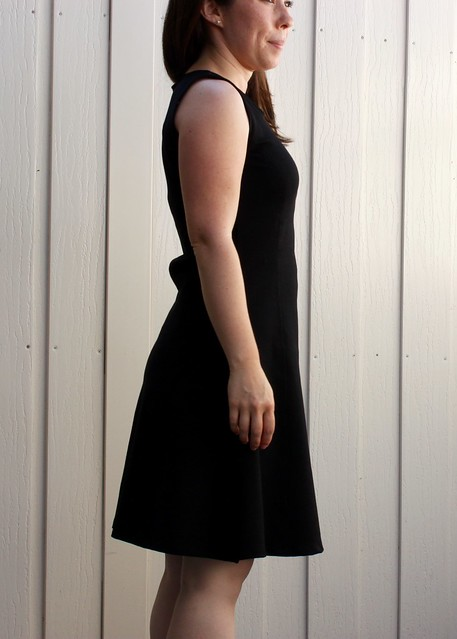 Sewaholic Davie LBD Fabric Pooling